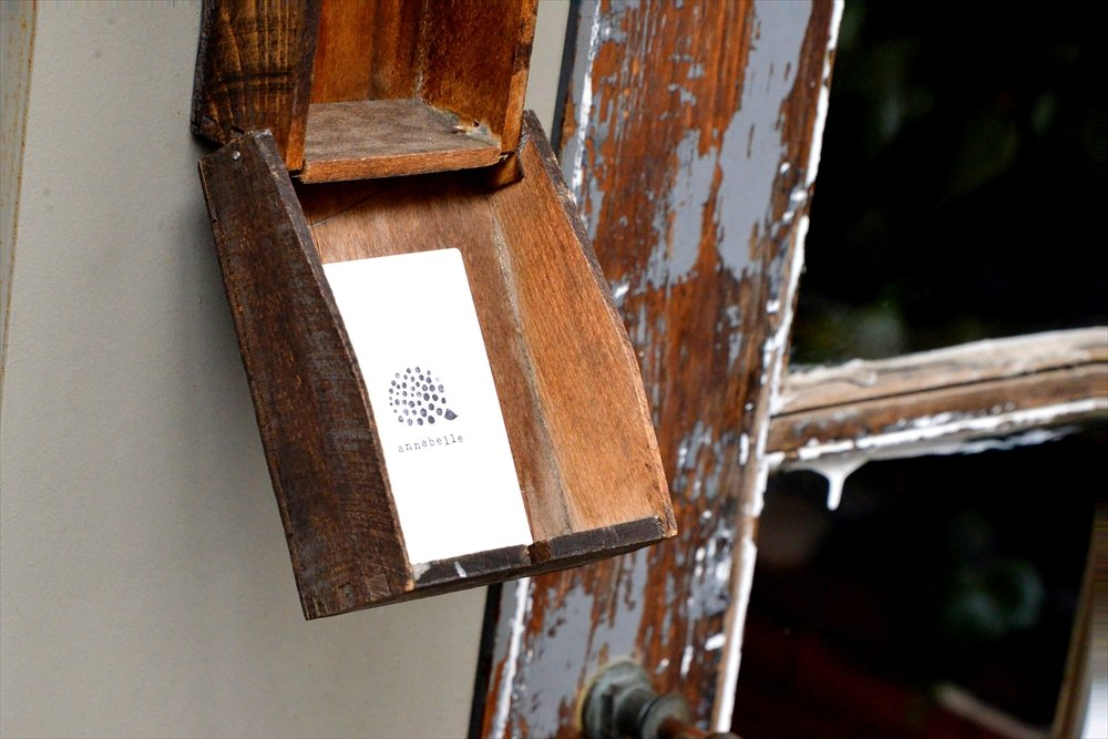 入り口横のカード