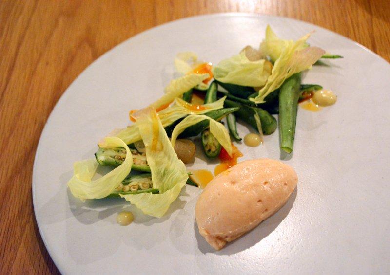 旬の野菜を使った前菜